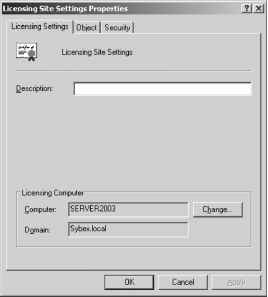 License Site Settings