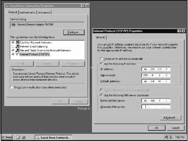 Windows Set Address Dialog