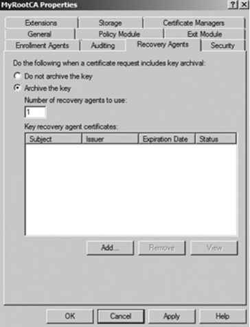 Key Recovery Agent Windows 2008