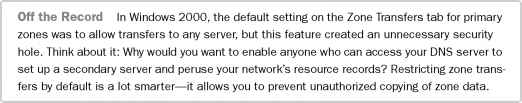 Allow Zone Transfers Server 2008 - Network Planning Windows Server 2003