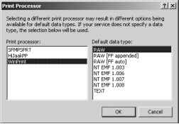 Viewing the Print Processor and Default Data Type - Solutions