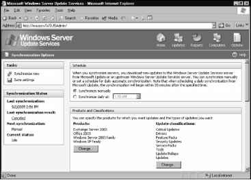Accessing the WSUS Administration Console - Windows Server