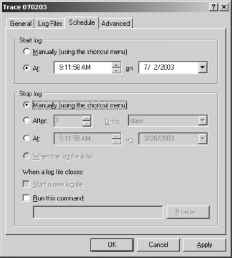 What Are Trace Logs Server 2003